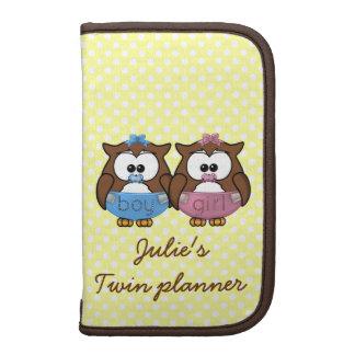 boy 'n girl baby owl planners
