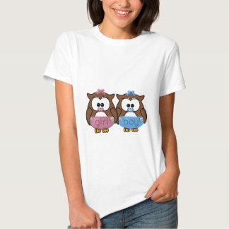 boy 'n girl baby owl t-shirt