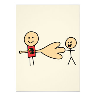 "Boy Offering Shake Hand Peace Friend Friendship 5.5"" X 7.5"" Invitation Card"