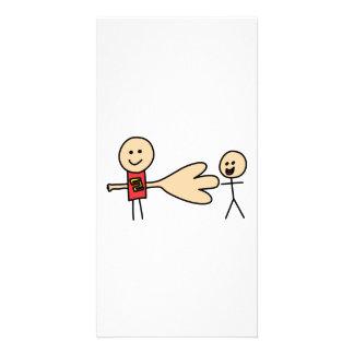 Boy Offering Shake Hand Peace Friend Friendship Photo Card