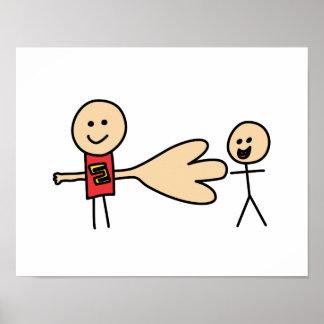 Boy Offering Shake Hand Peace Friend Friendship Poster