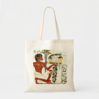 boy offering tote bag