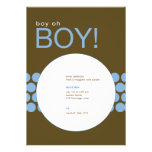 Boy Oh Boy Baby Shower Invite_Blue/Brown Personalized Invitations