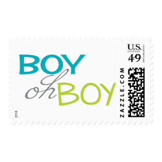 Boy oh Boy Baby Shower Postage