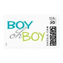 Boy oh Boy Baby Shower Postage