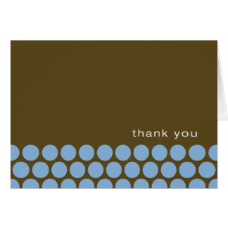 Boy Oh Boy - blue/brown thank you notes Stationery Note Card