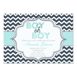 Oh boy baby shower invitations announcements zazzle boy oh boy chic chevron baby shower invitation filmwisefo Choice Image
