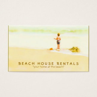 Boy on a Beach Watercolor Business Card
