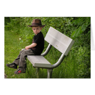 Boy on a Bench Card