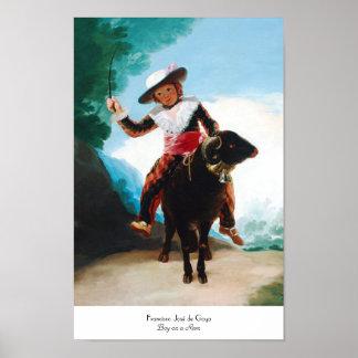 Boy on a Ram Francisco José de Goya Poster