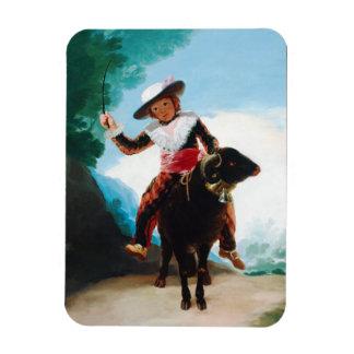 Boy on a Ram Francisco José de Goya Rectangular Photo Magnet