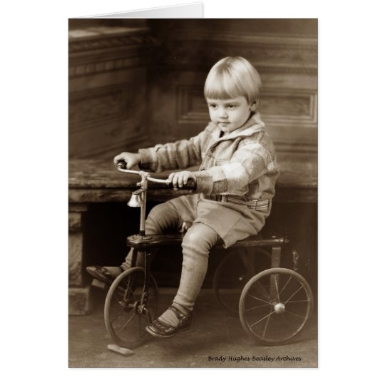 Boy on a Tricycle Card