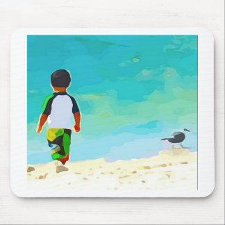 Boy on Beach Mouse Pad