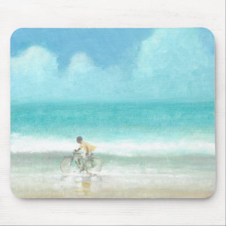 Boy on Bicycle  3 Mouse Pad