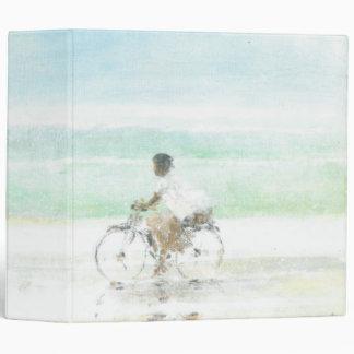 Boy on Bicycle Binder