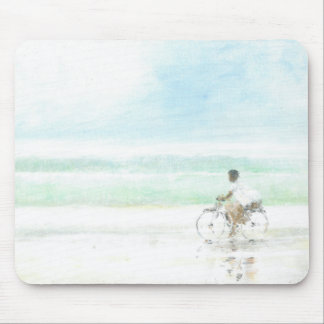 Boy on Bicycle Mouse Pad