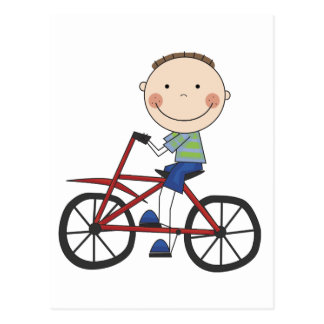 Boy on Bicycle Tshirts and Gifts Postcard