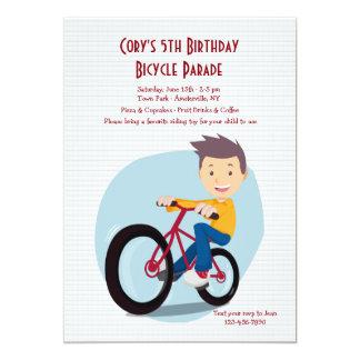 Boy On Bike Invitation