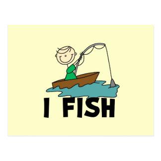 Boy on Boat I Fish Tshirts and Gifts Postcard