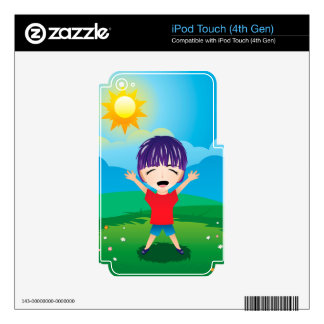Boy on Lawn Skin For iPod Touch 4G