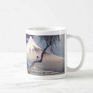 Boy on Mount Fuji, Hokusai Coffee Mug