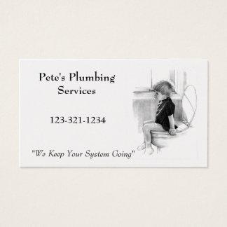 BOY ON POTTY: Plumber BUSINESS: Pencil Art Business Card