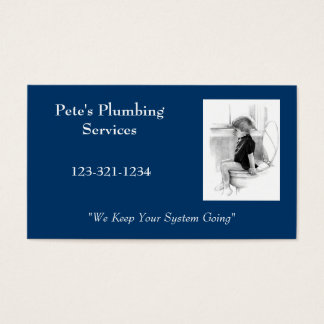 BOY ON POTTY: PLUMBING BUSINESS CARD