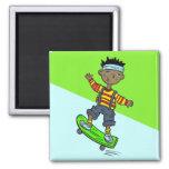 Boy On Skateboard Fridge Magnet