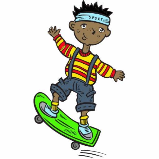 Boy On Skateboard Photo Cut Out