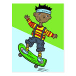 Boy On Skateboard Postcard