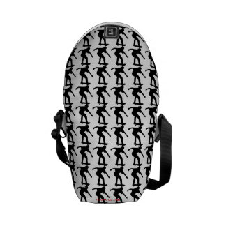 Boy On Skateboard Silhouette derived from an image Courier Bag