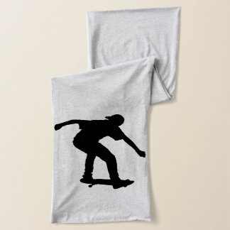 Boy On Skateboard Silhouette derived from an image Scarf