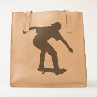 Boy On Skateboard Silhouette derived from an image Tote
