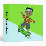Boy On Skateboard Vinyl Binders