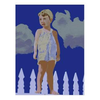 Boy on the Picket Fence Postcard
