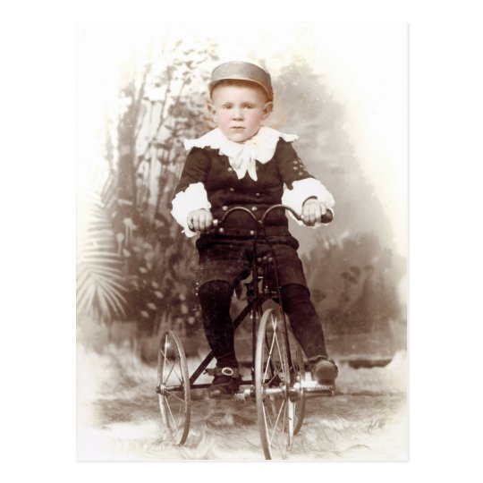 Boy on Tricycle Postcard