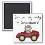 Boy On Way to Grandmas Tshirts and Gifts Refrigerator Magnets
