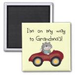Boy On Way to Grandmas Tshirts and Gifts Fridge Magnets