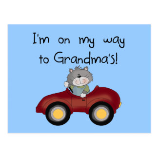 Boy On Way to Grandmas Tshirts and Gifts Postcard