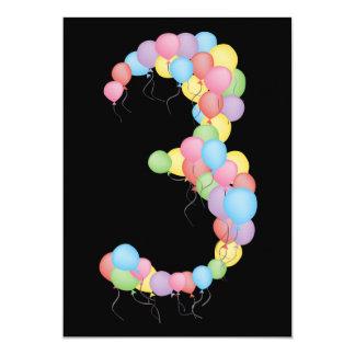 Boy or Girl 3rd Birthday Party Custom Invite