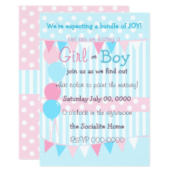 Boy or Girl Baby Reveal Party Invitation