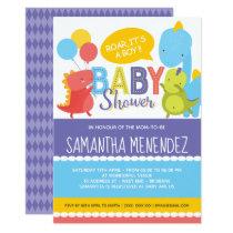 Boy or Girl Dinosaur Baby Shower Invitation
