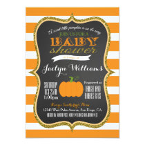 Boy or Girl Fall Pumpkin Baby Shower Invitation