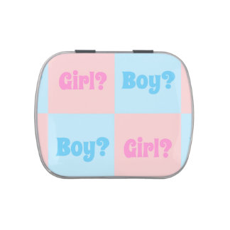 Boy or Girl Gender Reveal Jelly Belly Candy Tin