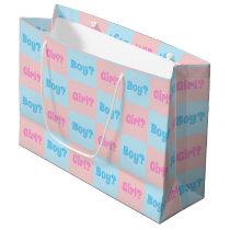 Boy or Girl Gender Reveal Large Gift Bag