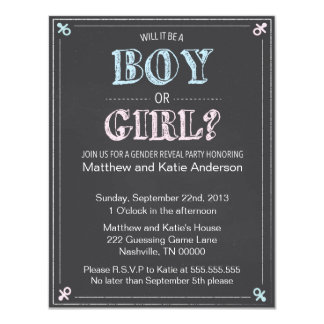 BOY OR GIRL? | GENDER REVEAL PARTY INVITATIONS