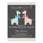Boy Or Girl Giraffe Gender Reveal Party Card at Zazzle