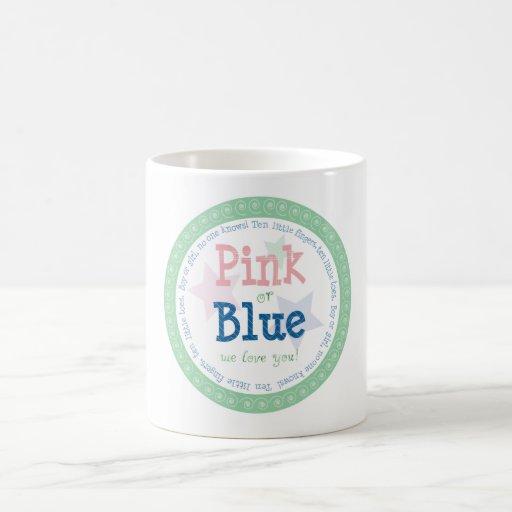 Boy or Girl? Pink or Blue, We Love You! Classic White Coffee Mug