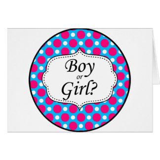 Boy or Girl Polka Dot Milestone Card