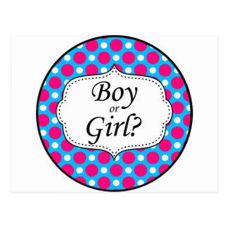 Boy or Girl Polka Dot Milestone Post Card